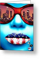 Fashionista Los Angeles Silver Greeting Card