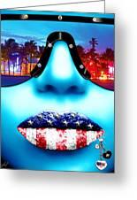 Fashionista Miami Blue Greeting Card