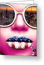Fashionista New York Pink Greeting Card