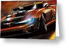 Fast Car Painting Greeting Card