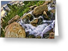 Fast Moveing Stream Greeting Card