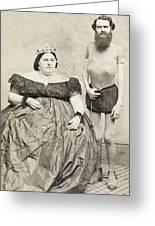 Fat Lady & Thin Man Greeting Card