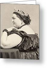 Fat Lady, 19th Century Greeting Card
