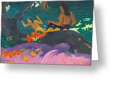 Fatata Te Miti.by The Sea Greeting Card