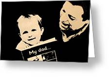 Father And Child Greeting Card