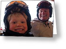 Father And Son At Big Mountain Greeting Card