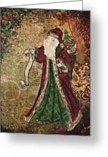 Father Christmas A Christmas Mixed Media Artwork Greeting Card