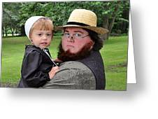 Father Daughter Time Greeting Card by Brian Graybill