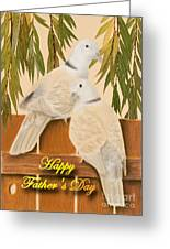 Father's Day Doves Greeting Card by Jeanette K