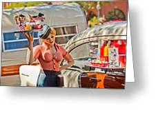 Faux 50's Drive-in Greeting Card