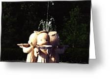 Faux Precious Moments Fountain Greeting Card