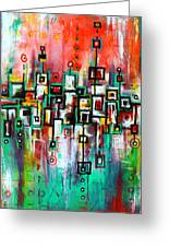 Favelas - Abstract Art By Laura Gomez Greeting Card