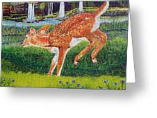 Fawn In The Holle Greeting Card