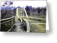 Fayette Station Bridge Greeting Card