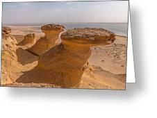 Fayum Desert Scene Greeting Card