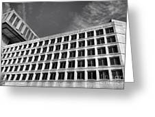 Fbi Building Side View Greeting Card by Olivier Le Queinec