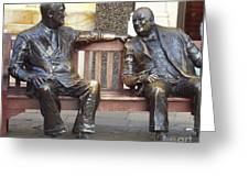 Fdr And Churchill Having A Chat In London Greeting Card