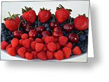 Feast Of Fruit Greeting Card