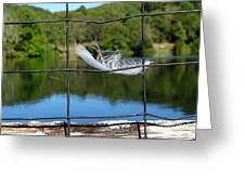 Feather And Fence Greeting Card