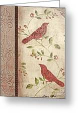 Feathered Friends Greeting Card
