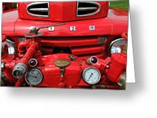 Featured Old Ford  Front On Fire Engine Denmark  Greeting Card