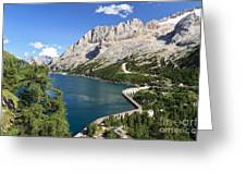 Fedaia Pass With Lake Greeting Card