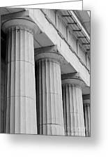 Federal Hall Columns Greeting Card