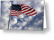 Federal Hill Flag Greeting Card by Brian Wallace