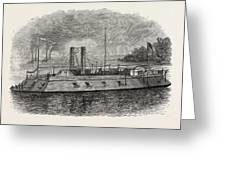 Federal Iron-clad River Gunboat, American Civil War Greeting Card