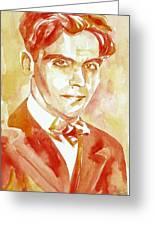 Federico Garcia Lorca Portrait Greeting Card