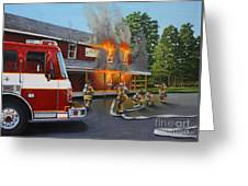 Feed Store Fire Greeting Card