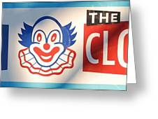 Feed The Clown Greeting Card