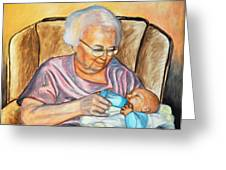 Feeding Baby 2 Greeting Card