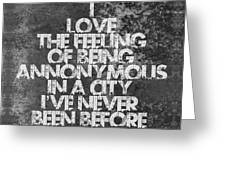 Feeling Quotes Poster Greeting Card