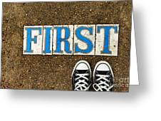 Feet First Greeting Card