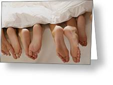 Feet In Bed Greeting Card