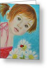 Felisa Little Angel Of Happiness And Luck Greeting Card