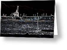 Felixstowe Glow 001 Greeting Card