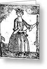 Female Continental Soldier Greeting Card