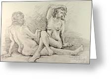 Female Nudes Greeting Card