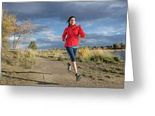 Female Runner In Colorado Greeting Card