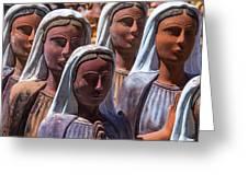 Female Statues Greeting Card