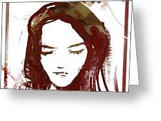 Female Textured Sketch Number 1 Greeting Card