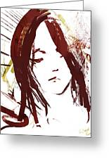 Female Textured Sketch Number 2 Greeting Card