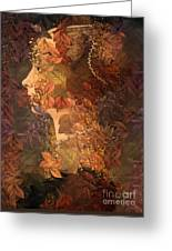 Femme D Automne Greeting Card