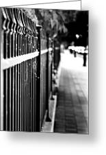 Fence At Eight  Greeting Card