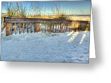 Fence At The Beach In St Augustine Florida Greeting Card