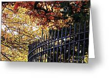 Fence At Woodlawn Cemetery Greeting Card