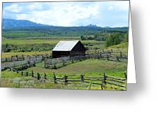 Fence Barn Greeting Card