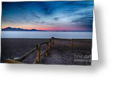 Fence By The Salt Flats Greeting Card